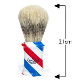 Omega Giant Barber Pole Shaving Brush - Blue, Red & White