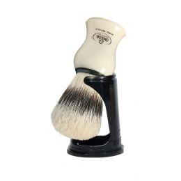 Omega Pure Bristle Shaving Brush & Stand