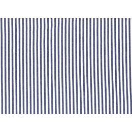 Betty Dain Seersucker Barber Cloth with Navy & White Stripes