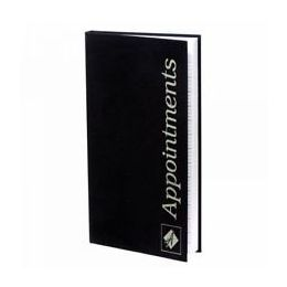 Barbers Appointment Book in Black