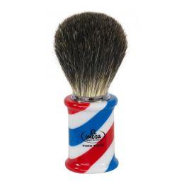 Omega Barber Pole Shaving Brush