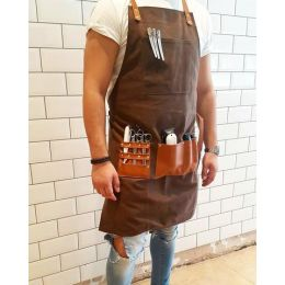 Barber Pro Waxed Canvas Barber Apron