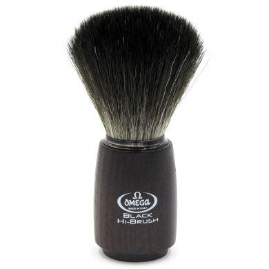 Omega Black Hi-Brush Synthetic Badger Brush