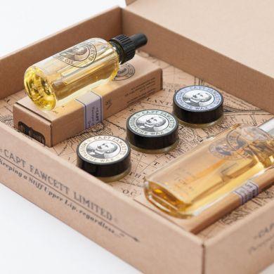 Captain Fawcett Eau De Parfum, Moustache Wax & Beard Oil Gift Set