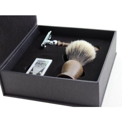 Frank Shaving Luxury Wooden Handle Shaving Set