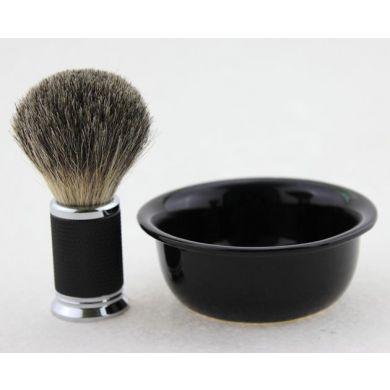 Frank Shaving Luxury Shaving Brush With Ceramic Bowl