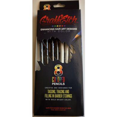 Graff Etch Hair Pattern Pencils - Black & White