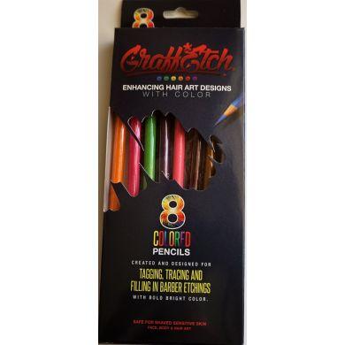 Graff Etch Hair Pattern Pencils - Neon